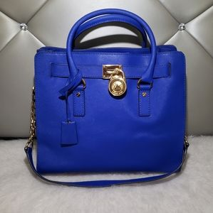Michael Kors Royal Blue Hamilton Bag